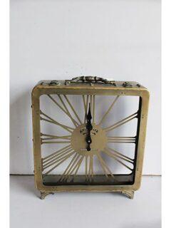 Ρολόι Μεταλλικό Χρυσό 32cmΧ10cmΧ34.5cm