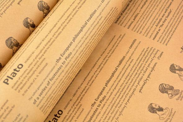 Wrapping-Paper-Kraft-Printed-Greek Philosophers