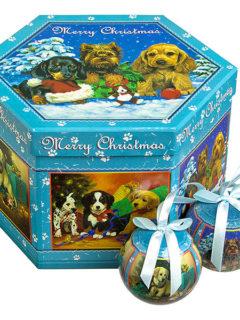 christmash balls dogs