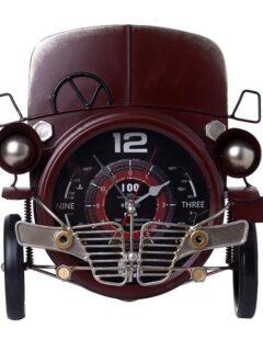 Ρολόι Τοίχου Μεταλλικό Αυτοκίνητο 31cmΧ14cmΧ36cm