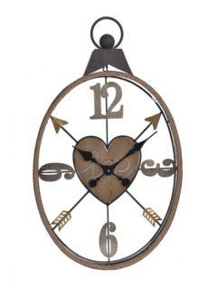 Ρολόι Τοίχου Μεταλλικό LOVE in art