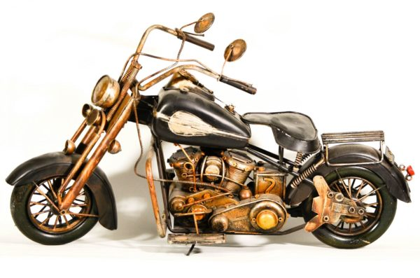 miniature motorcycle black