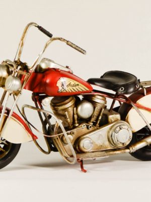 miniatre motorcycle indian red