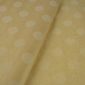 Tissue Paper Kraft large dots White