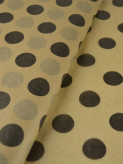 Tissue Paper Kraft Large dots Black