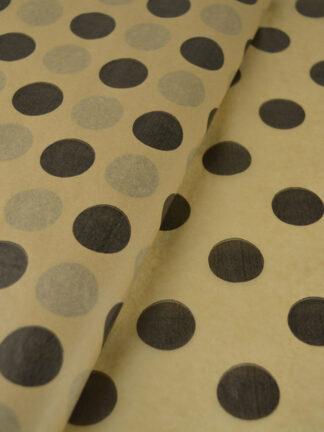 Tissue Paper Kraft Large dots Black